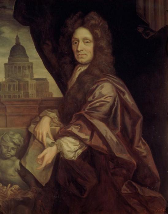 Сэр Кристофер Рен (1632-1723). Сэр Годфри Неллер (копия, Эдмунд Дайер)