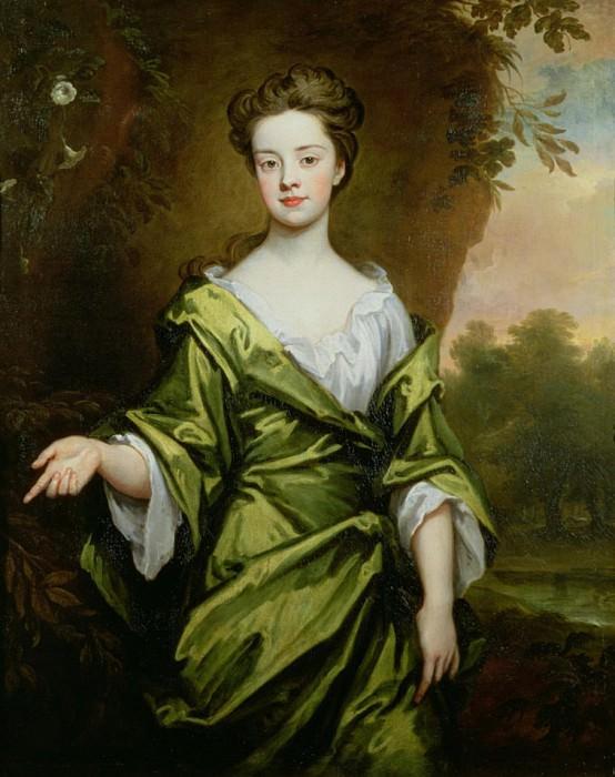 Девочка в зелёном, возможно, брачный портрет. Сэр Годфри Неллер