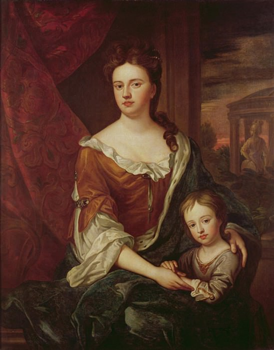 Queen Anne and William, Duke of Gloucester. Sir Godfrey Kneller