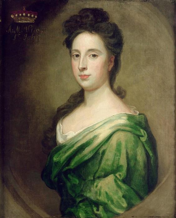 Portrait of Angelina Magdalena (c.1666-1736), second wife of 1st Viscount St. John. Sir Godfrey Kneller
