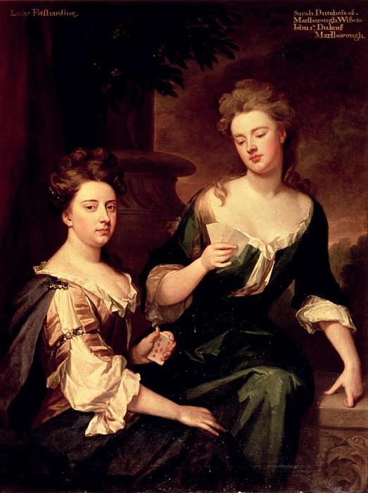 Сара, герцогиня Мальборо (1660-1744) играет в карты с Леди Фитцхардинг. Сэр Годфри Неллер