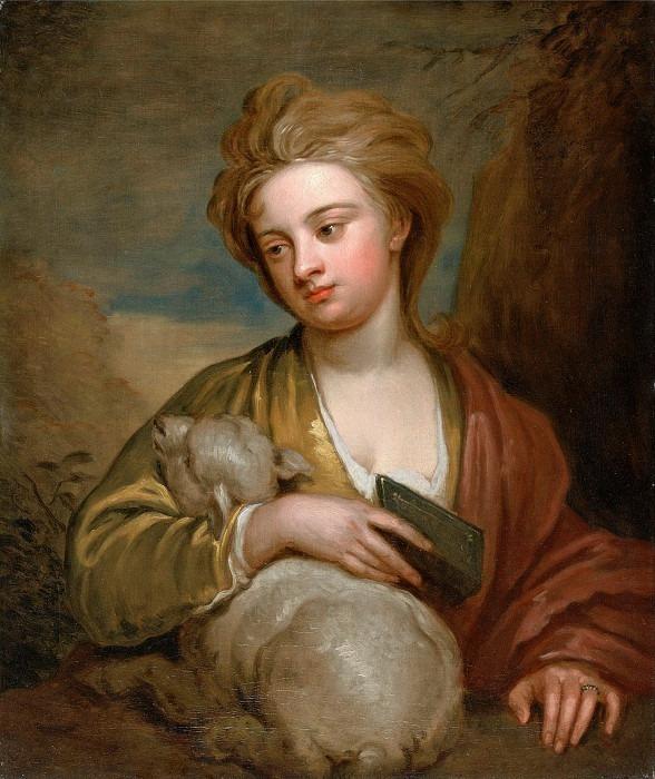 Женщина, называемая Сент-Аньес, традиционно идентифицируется как Кэтрин Восс. Сэр Годфри Неллер