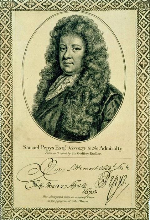 Сэмюэль Пепис (1633-1703), секретарь Адмиралтейства. Сэр Годфри Неллер