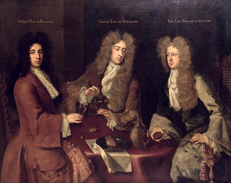 Эвелин, 1-й герцог Кингстона, Чарльз, граф Берлингтона и Джон, Лорд Беркли Стрэттон. Сэр Годфри Неллер