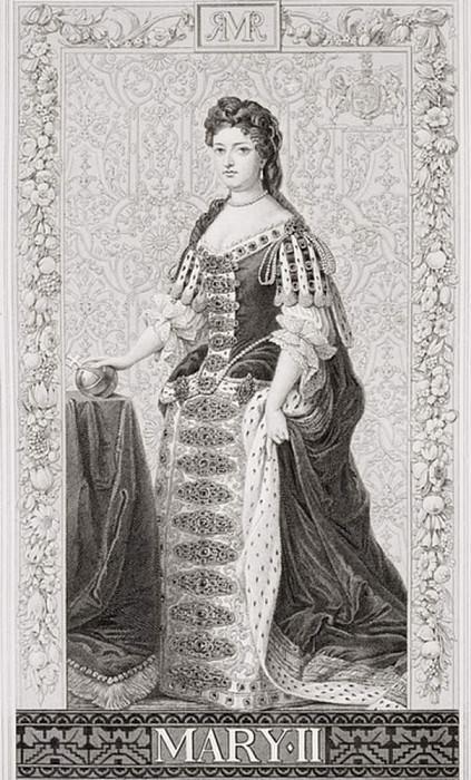 Королева Мария II (1662-1694), из «Иллюстрации английской и шотландской истории» Том II. Сэр Годфри Неллер