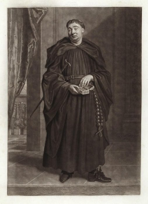 Portrait of Anthony Leigh as Father Dominic in «The Spanish Friar». Sir Godfrey Kneller