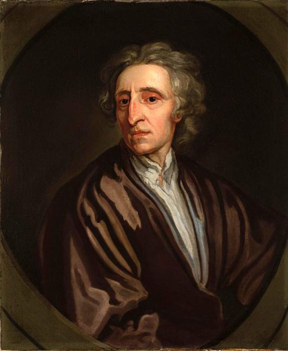 Portrait of John Locke. Sir Godfrey Kneller