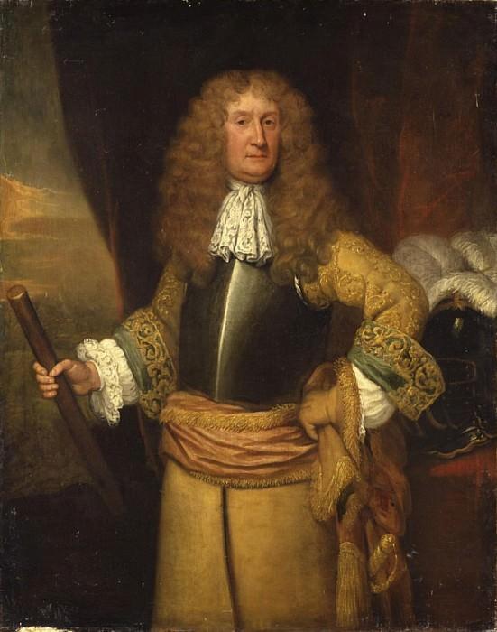 Генри, третий Лорд Аранделла из Уордура, держащий в руках дубинку, в образе шталмейстера. Сэр Годфри Неллер