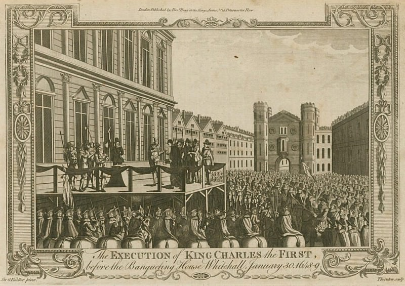 The execution of King Charles I before the Banqueting House, Whitehall, 30 January 1649. Sir Godfrey Kneller