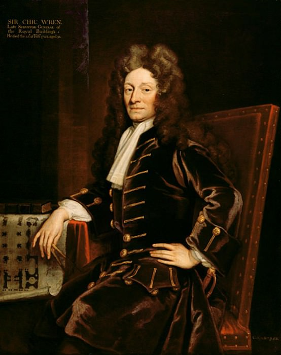 Portrait of Sir Christopher Wren (1632-1723). Sir Godfrey Kneller