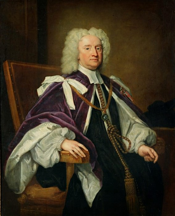 Portrait of Sir Jonathan Trelawny, successively Bishop of Bristol, Exeter and Winchester. Sir Godfrey Kneller