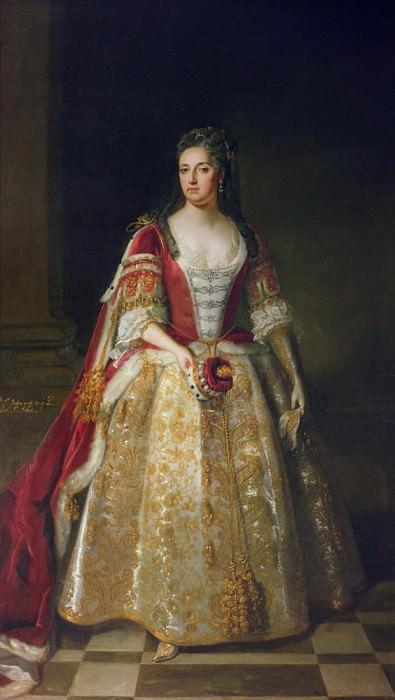 Ангелина Магдалена (ок.1666-1736), вторая жена первого виконта Иоанна в коронационном наряде. Сэр Годфри Неллер