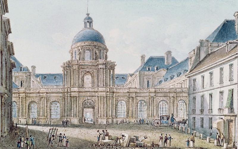 View of the Palais du Senat Conservateur Le Luxembourg, Paris. Victor Jean Nicolle