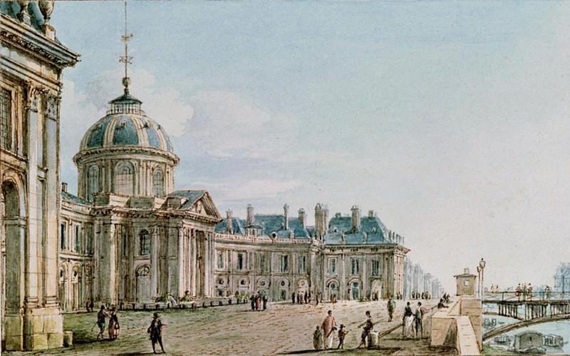 View of the College des Quatre Nations, Paris. Victor Jean Nicolle