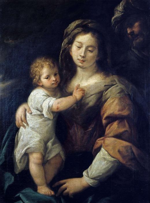 Мадонна с младенцем и святым Иосифом (Святое семейство). Карло Франческо Нуволоне