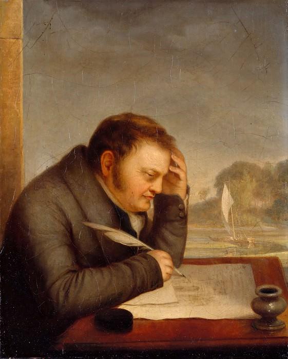 Portrait of the art historian Karl Friedrich von Rumohr. Friedrich Nerly