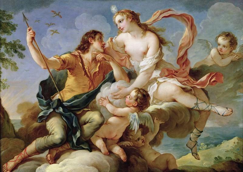 Венера и Адонис. Шарль-Жозеф Натуар