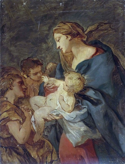 The Virgin and Child with angels. Charles-Joseph Natoire