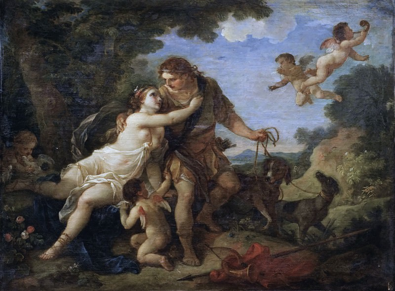 Venus and Adonis. Charles-Joseph Natoire
