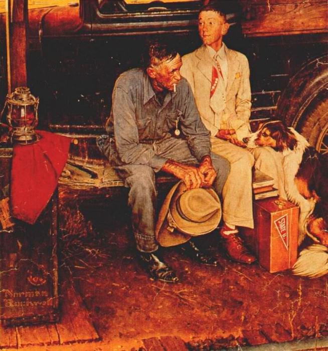 breaking home ties 1954. Rockwell Norman