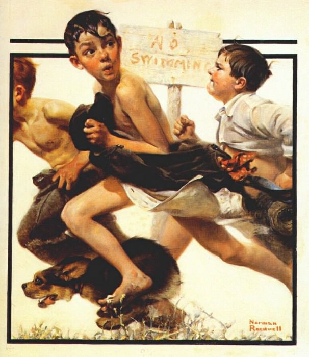 no swimming 1921. Rockwell Norman