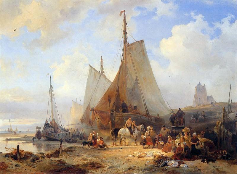 Fishingboats on the beach. Wijnandus Nuyen