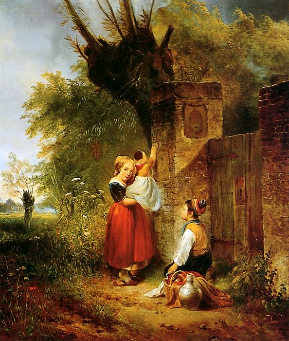 Children at the gate. Wijnandus Nuyen
