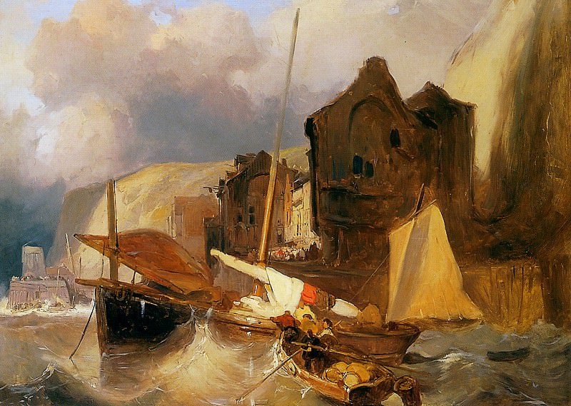 Sketch of a harbourview. Wijnandus Nuyen