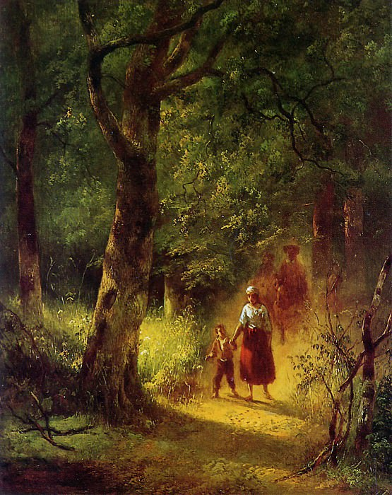 Figures in a forest. Wijnandus Nuyen
