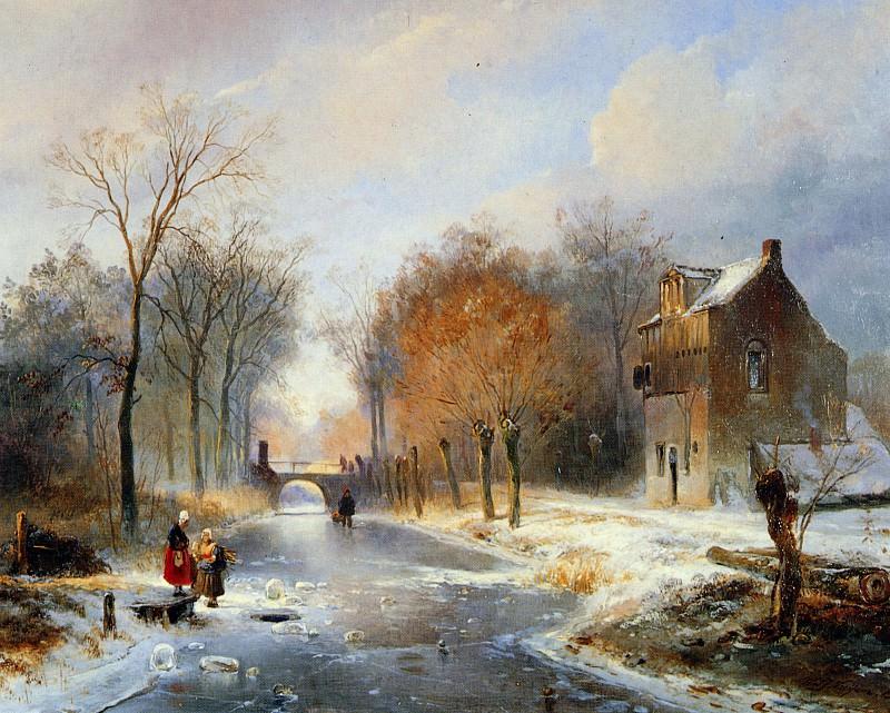 Van Vredeburghweg in Rijswijk in Winter. Wijnandus Nuyen