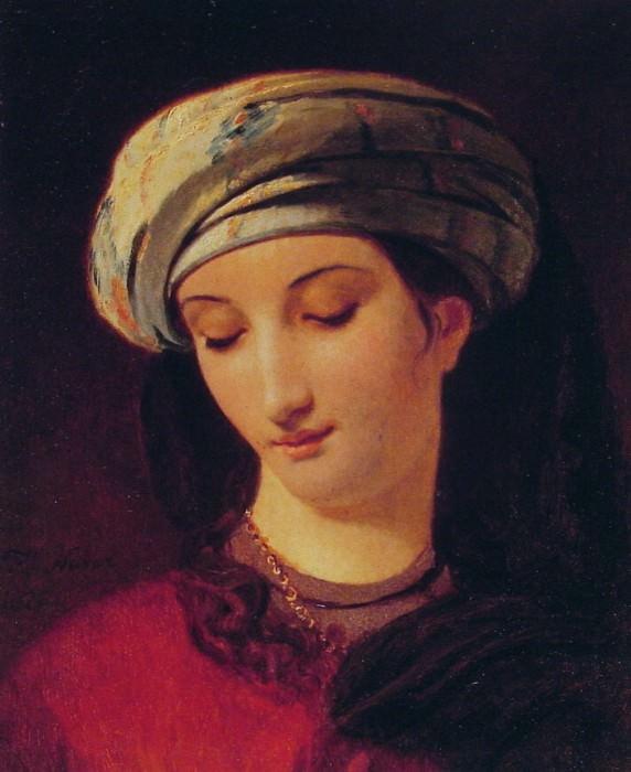 Portrait of A Woman with a Turban. Francois Joseph Navez
