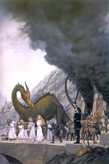 The Sack of Nargothrond. Ted Nasmith
