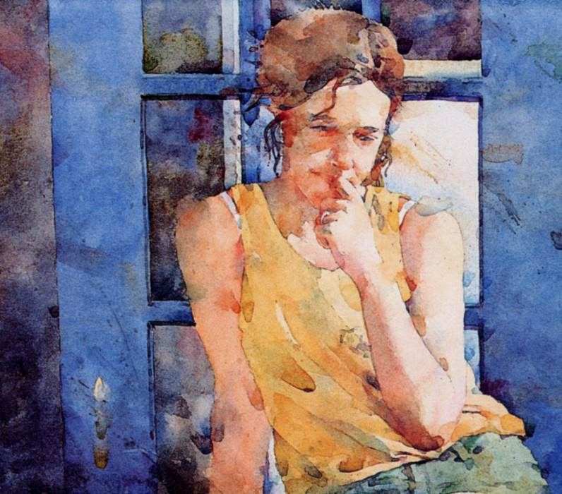 Blue. Ted Nuttall