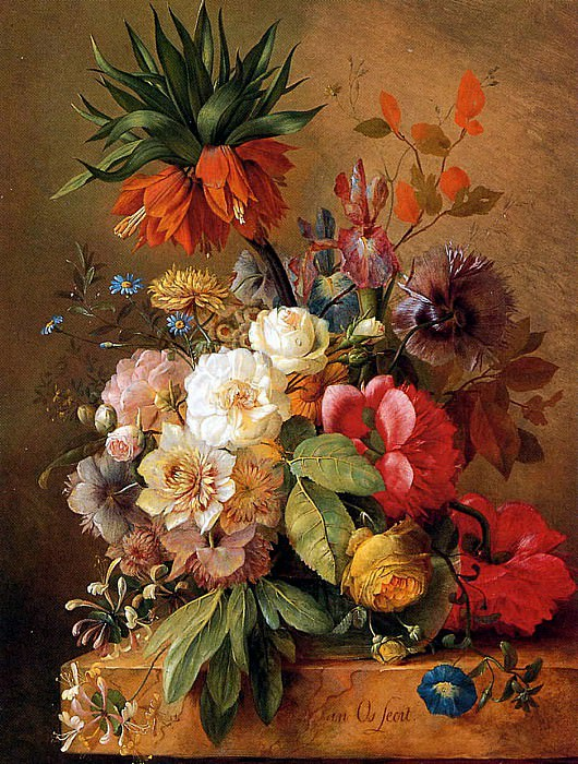 Still life with flowers. George Jacobus Johannes van Os