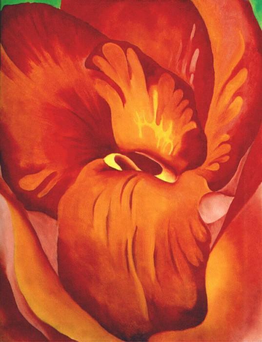 Пушница - красная и оранжевая. Джорджия ОКиф