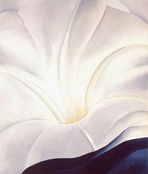 Утреннее великолепие с черным пятном №3, 1926. Джорджия ОКиф