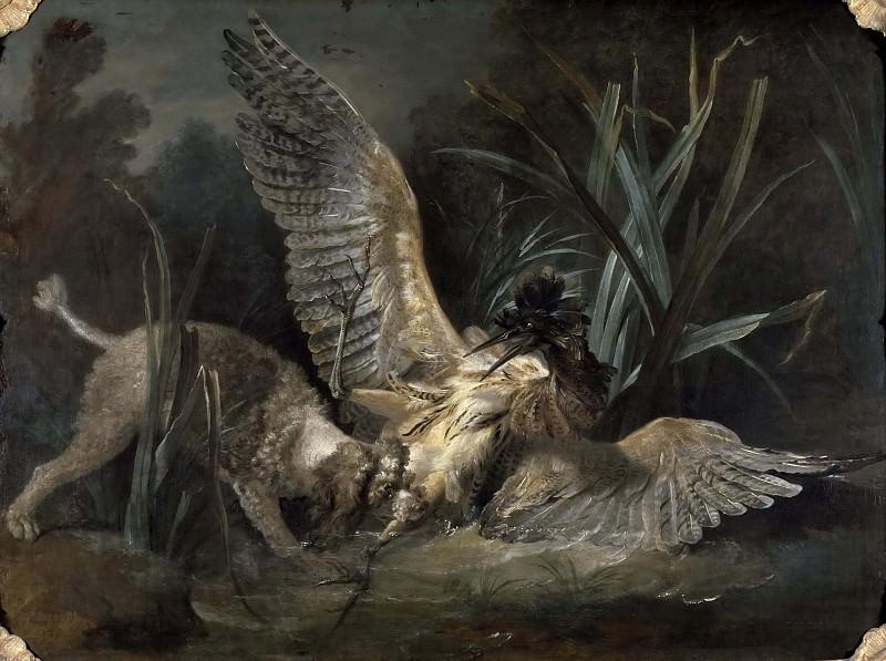 Spaniel Seizing a Bittern. Jean-Baptiste Oudry