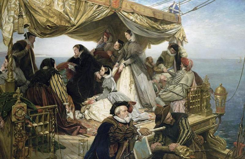 Мэри Стюартс прощается с Францией. Генри Нельсон О'Нил