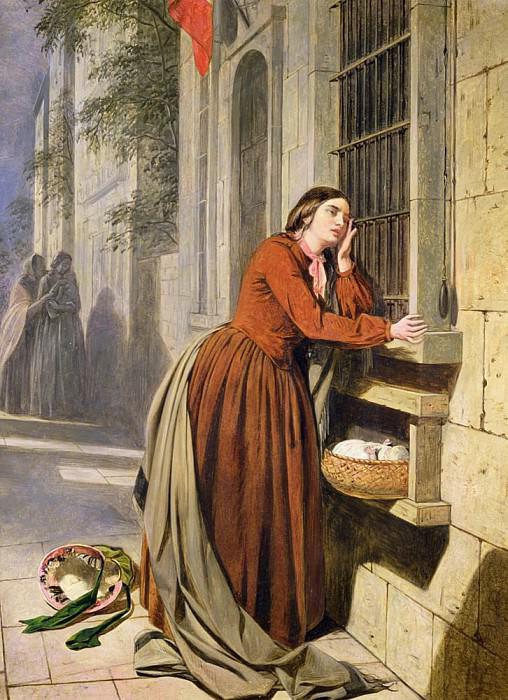 Мать, оставившая ребёнка в странноприимном доме в Париже. Генри Нельсон О'Нил