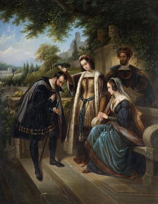 Королева Изабелла и Колумб. Генри Нельсон О'Нил