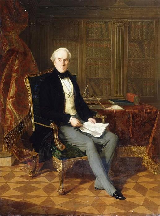 Генри Пэлем-Клинтон, Кавалер Ордена Подвязки, 4-й герцог Ньюкаслский, с документом в руке. Генри Нельсон О'Нил