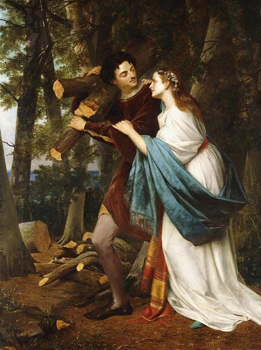 Влюблённые в лесу. Генри Нельсон О'Нил