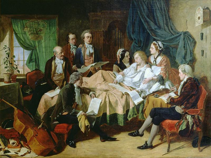 The Last Hours of Mozart (1756-91). Henry Nelson O'neil