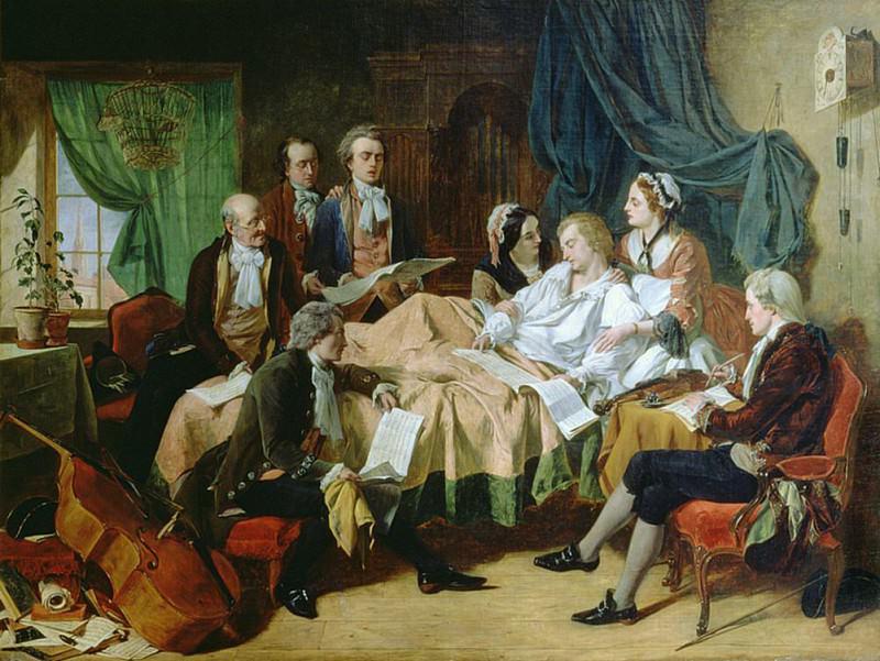 Последние часы Моцарта (1756-91). Генри Нельсон О'Нил
