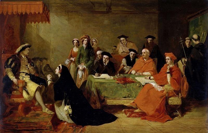 Суд над Екатериной Арагонской (1485-1536). Генри Нельсон О'Нил