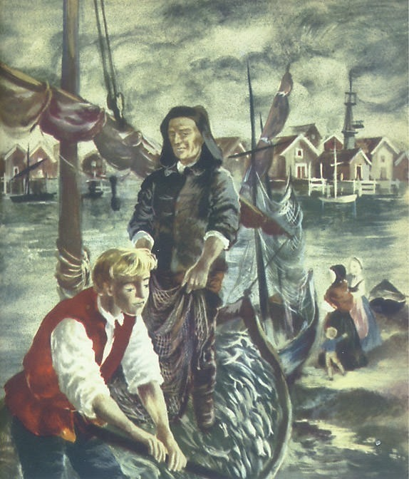 am chapter40b fishermen in Bohuslдn. Maria Orlowska