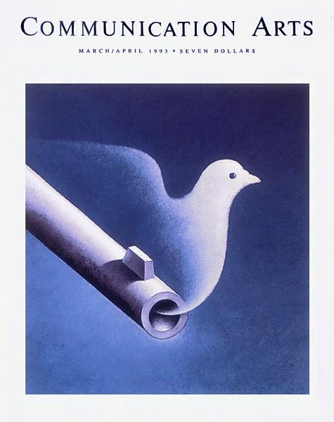 Обложка журнала -Коммуникационные искусства-, март 1993 г.. Рафал Ольбиньский
