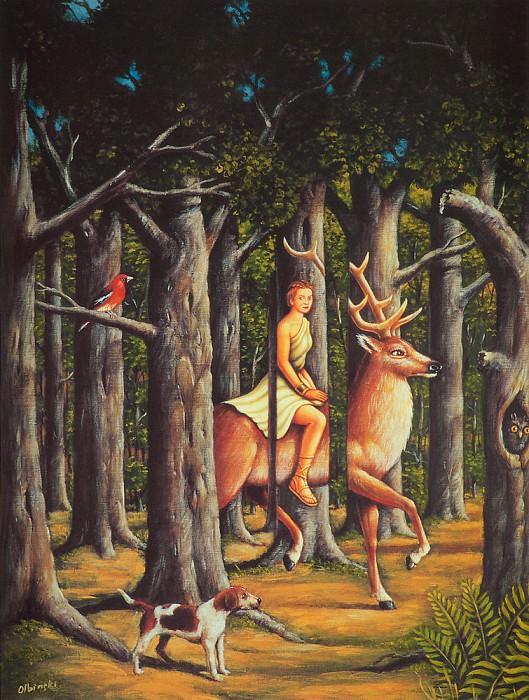 Tribute to Rene Magritte. Rafal Olbinski
