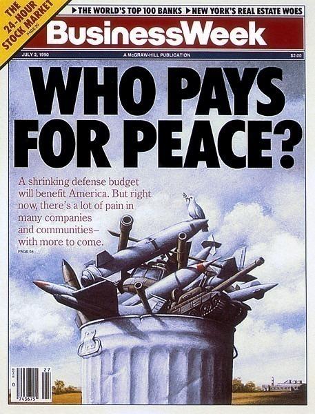 Обложка журнала, июль 1990 г. КТО ПЛАТИТ ЗА МИР?. Рафал Ольбиньский