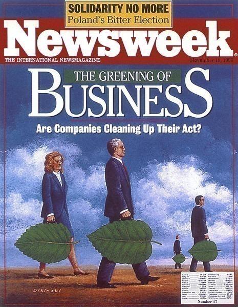 Newsweek Nov 1990. Rafal Olbinski